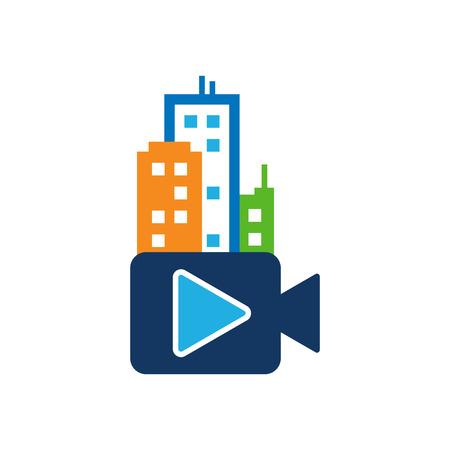 Town Video Logo Icon Design
