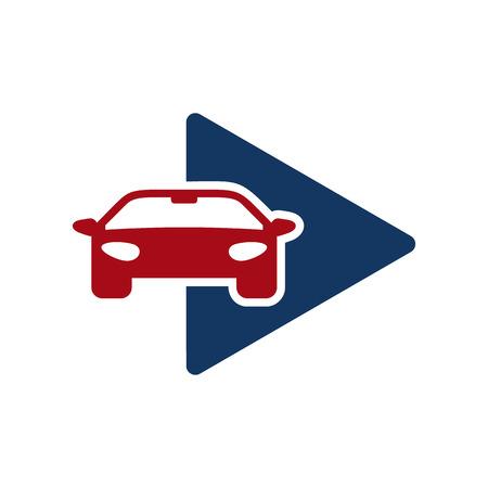 Automotive Video Logo Icon Design Illustration
