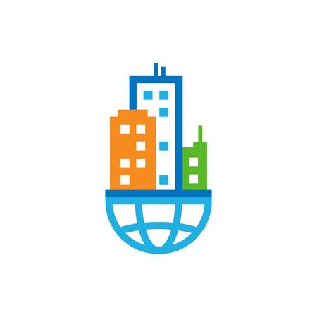 Town World Logo Icon Design