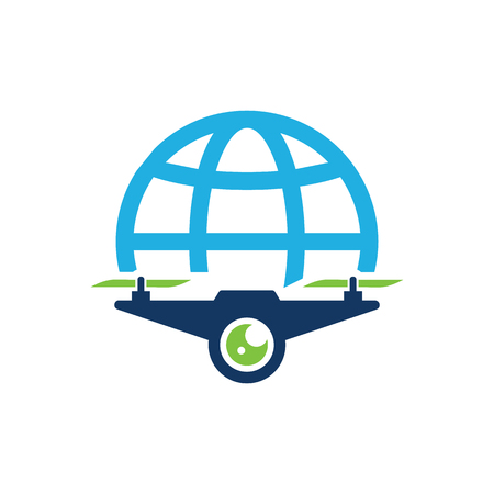 Drone World Logo Icon Design