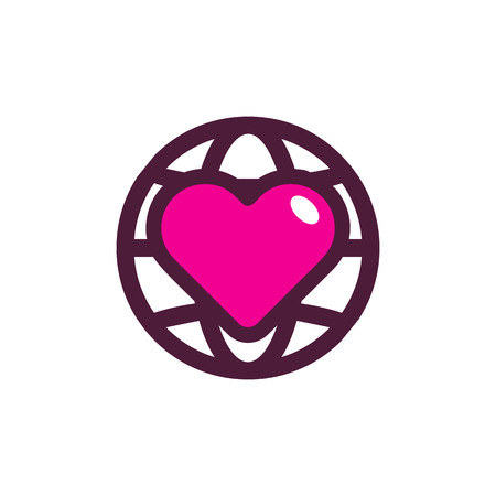 Love World Logo Icon Design