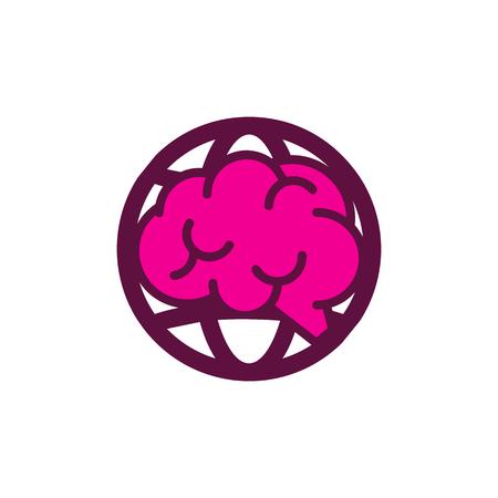 Brain World Logo Icon Design Archivio Fotografico - 102231931