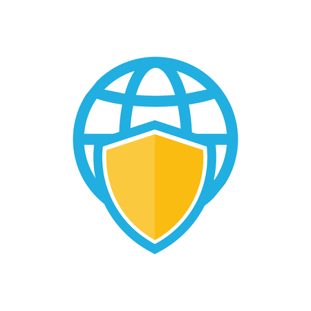 Shield World Logo Icon Design
