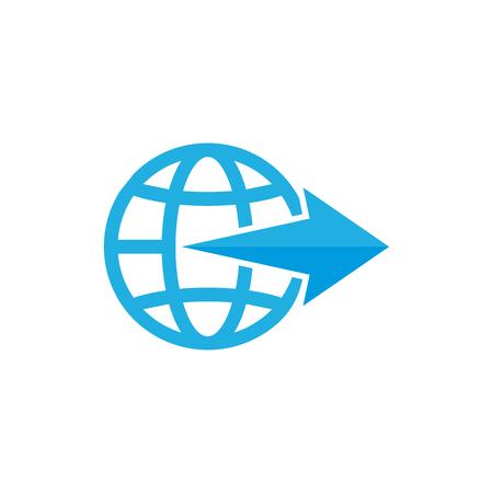 Arrow World Logo Icon Design Illustration