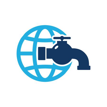 Plumbing World Logo Icon Design