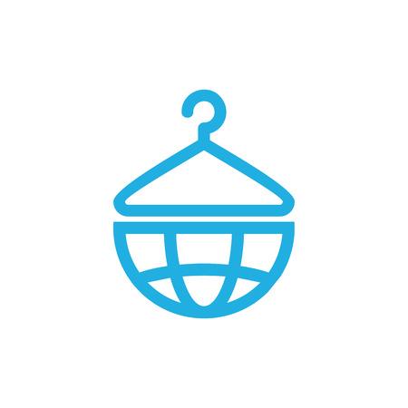Laundry World Logo Icon Design Illustration