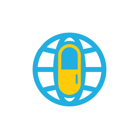 Medicine World Logo Icon Design Stock Illustratie