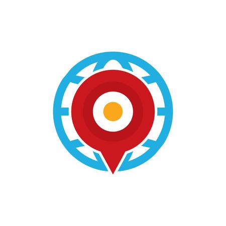 Point World Logo Icon Design