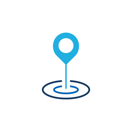 Point Gps Logo Icon Design