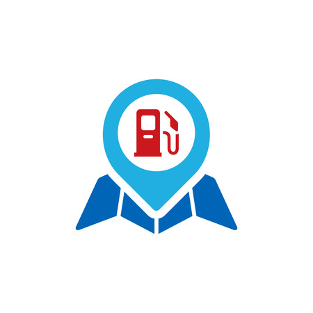 Gas Station Gps Logo Icon Design