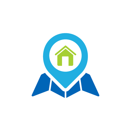 Home Gps Logo Icon Design Иллюстрация