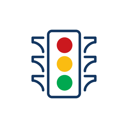 Traffic Light Logo Icon Design
