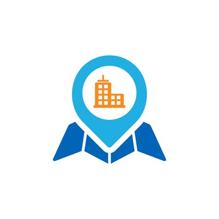 Town Gps Logo Icon Design Stock Illustratie