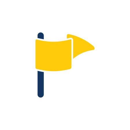 Mark Gps Logo Icon Design Banque d'images - 106096411