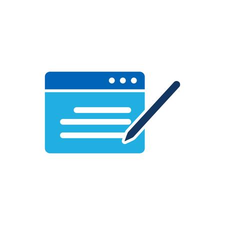 Write Testimonial Logo Icon Design