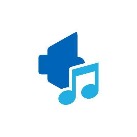 Music Logo Icon Design Illusztráció