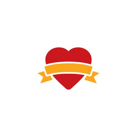 Love Gift Logo Icon Design Stock Illustratie
