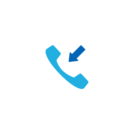 Receive Call Logo Icon Design  イラスト・ベクター素材