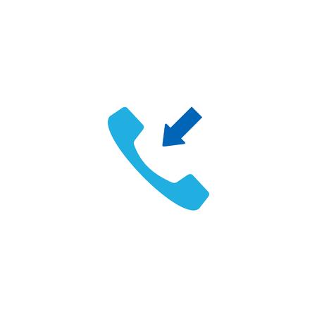 Receive Call Logo Icon Design Illustration