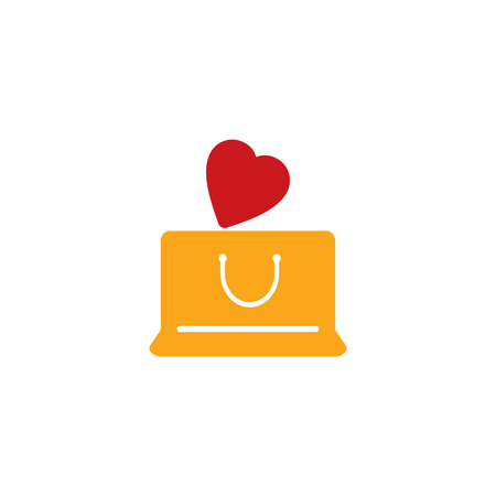 Shop Love Logo Icon Design 일러스트
