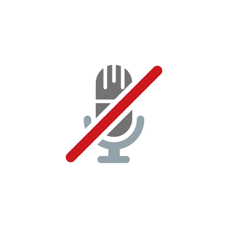 No Sound Logo Icon Design Banque d'images - 106096760