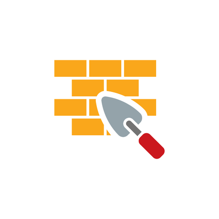 Brick Construction Logo Icon Design Ilustracja