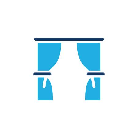 Curtain Logo Icon Design