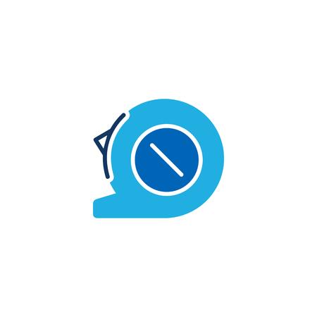 Tape Measure Logo Icon Design Illustration