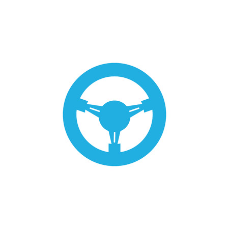 Steering Wheel Car Part Logo Icon Design