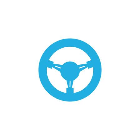 Steering Wheel Car Part Logo Icon Design