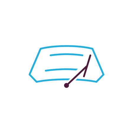 Car Wiper Logo Icon Design Иллюстрация