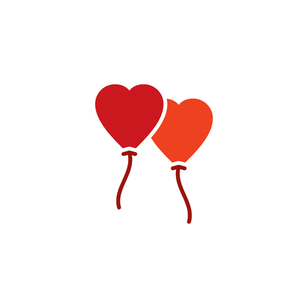 Balloon Love Logo Icon Design