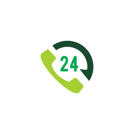 24 Hour Call Logo Icon Design