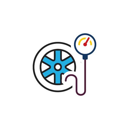 Tire Pressure Logo Icon Design  イラスト・ベクター素材