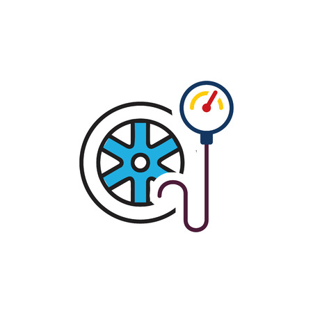 Tire Pressure Logo Icon Design 일러스트