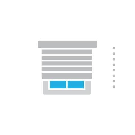 Conception d'icône de logo de rideau