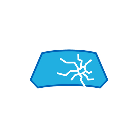 Windshield Broken Logo Icon Design