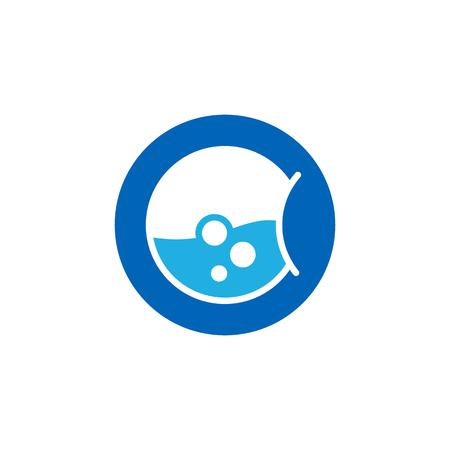Laundry Logo Icon Design Illustration