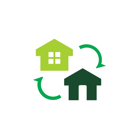 Exchange Home Logo Icon Design