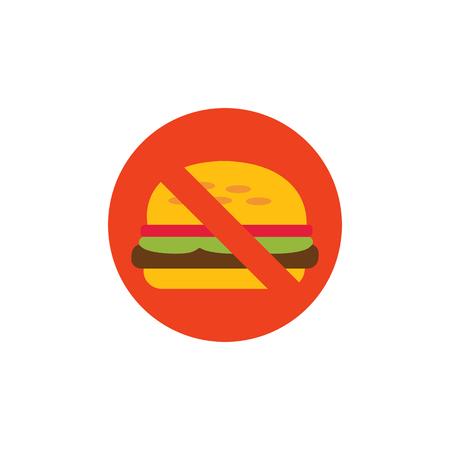 No Burger Logo Icon Design Ilustração