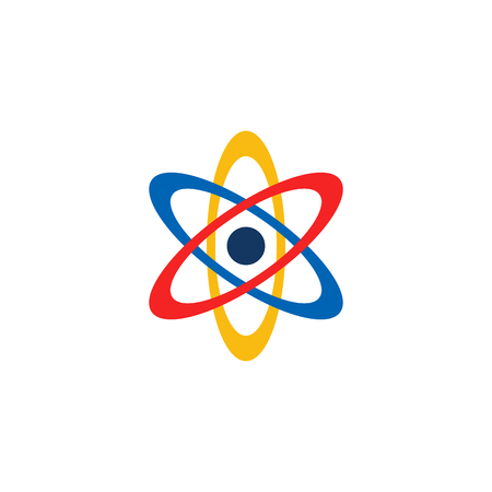 Atom Logo Icon Design Иллюстрация