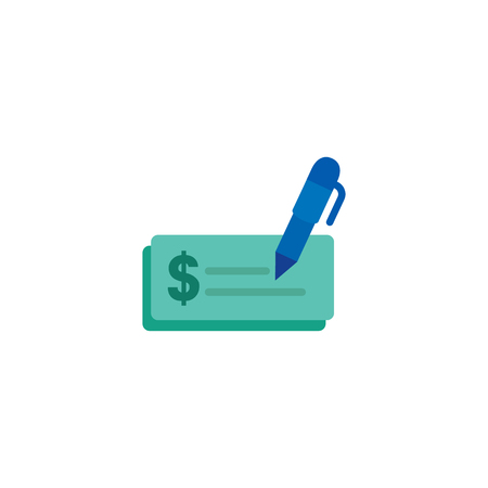 Write Cheque Logo Icon Design Stock fotó - 106297475