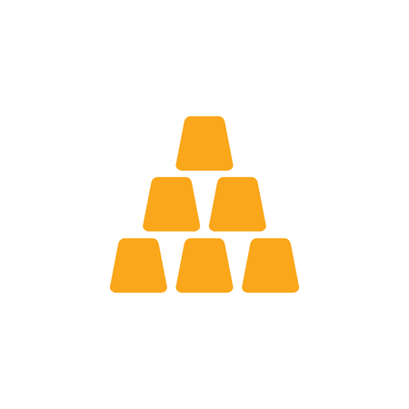 Cup Stacking Logo Icon Design  イラスト・ベクター素材