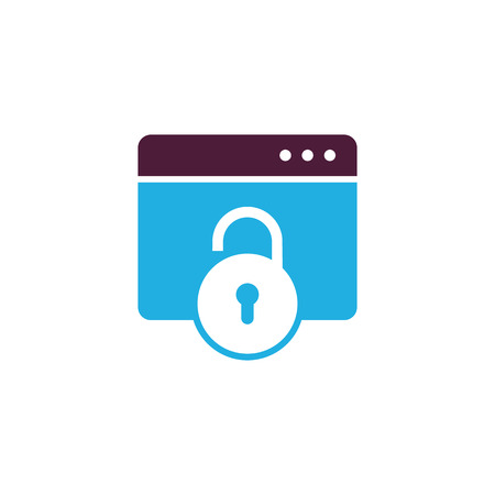 Lock Data Logo Icon Design