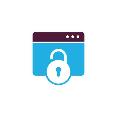 Lock Data Logo Icon Design