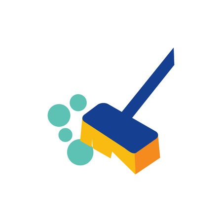 Long Handled Brush Logo Icon Design