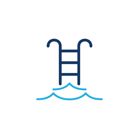 Swimming Pool  Logo Icon Design Illustration
