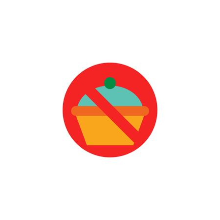 No Cake Logo Icon Design