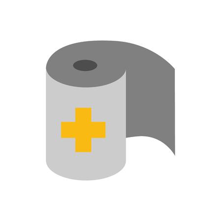 Roll Bandage Medical Logo Icon Design Ilustração