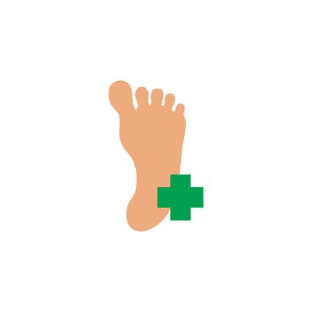 Medizinischer Fuß-Icon-Design